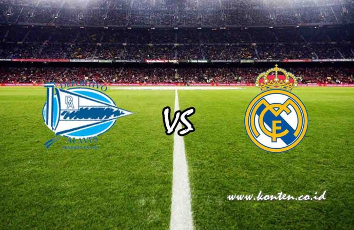 Link Live Streaming Alaves vs Real Madrid di HP