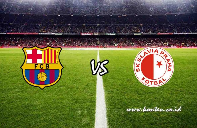 Link Live Streaming Barcelona vs Slavia Praha di HP