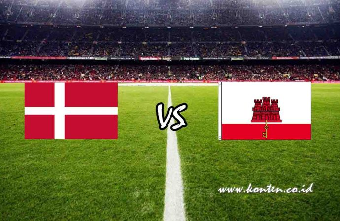 Link Live Streaming Denmark vs Gibraltar di HP
